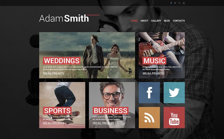 Videographer Responsive Website Template - Cinematographer website templates