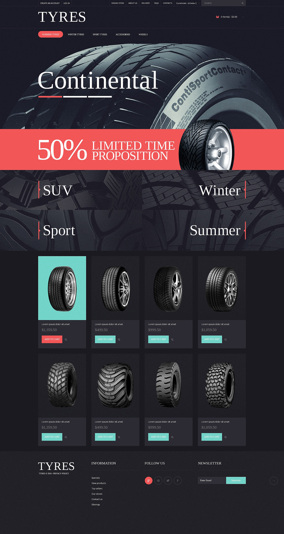 Wheels & Tires PSD Template New Screenshots BIG