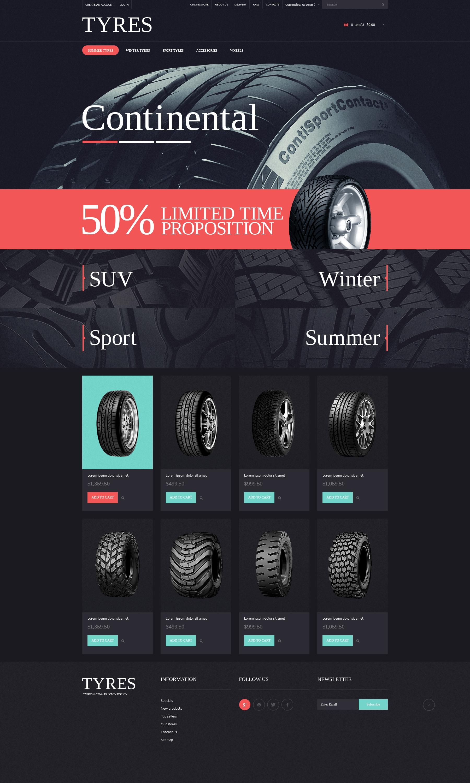 Wheels & Tires PSD Template - screenshot