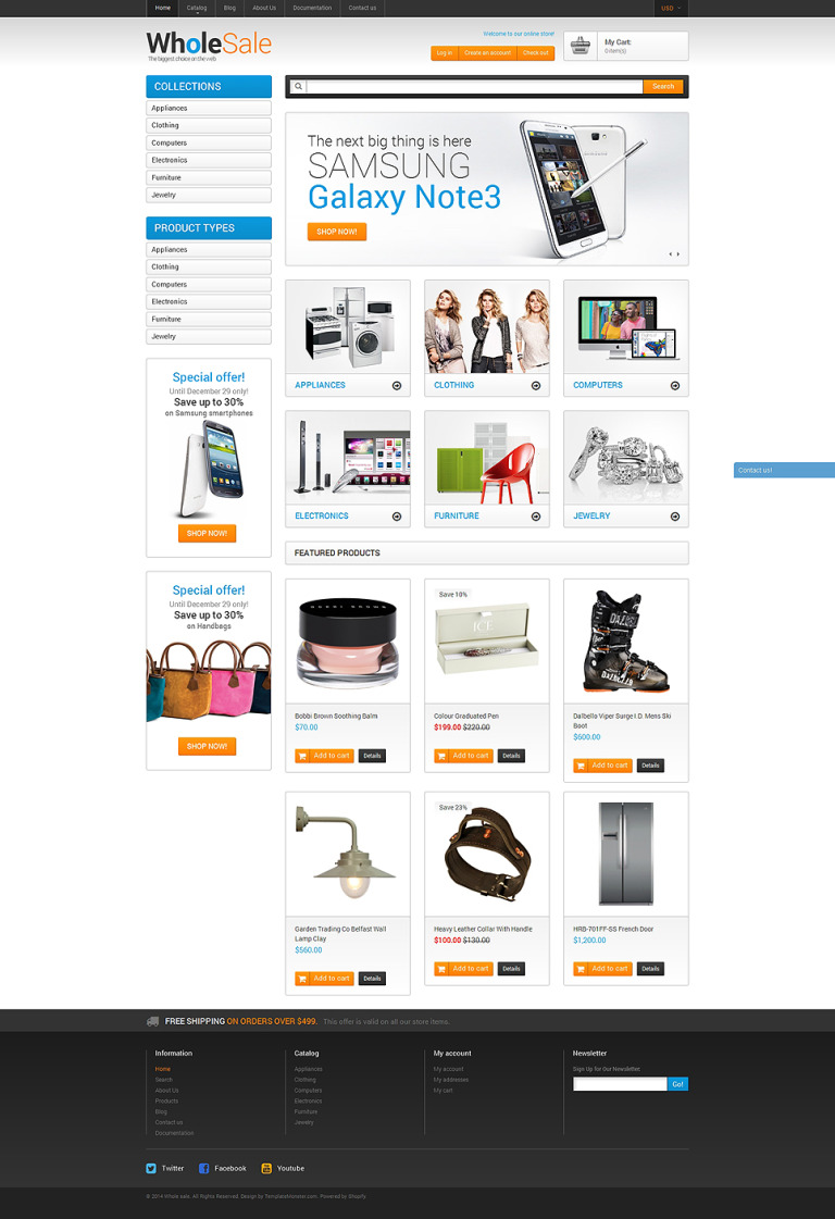 Wholesale Store Shopify Theme New Screenshots BIG