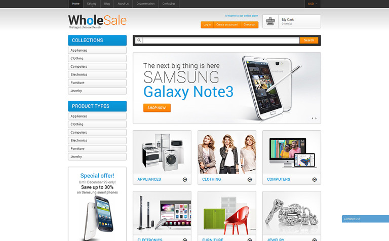 Wholesale Store Shopify Theme - Shopify store templates