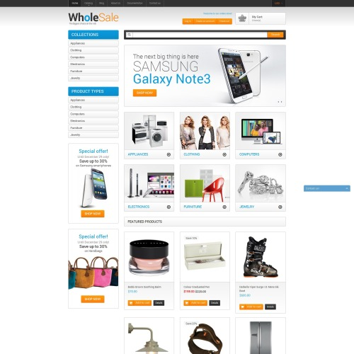 Wholesale  - Shopify Template based on Bootstrap