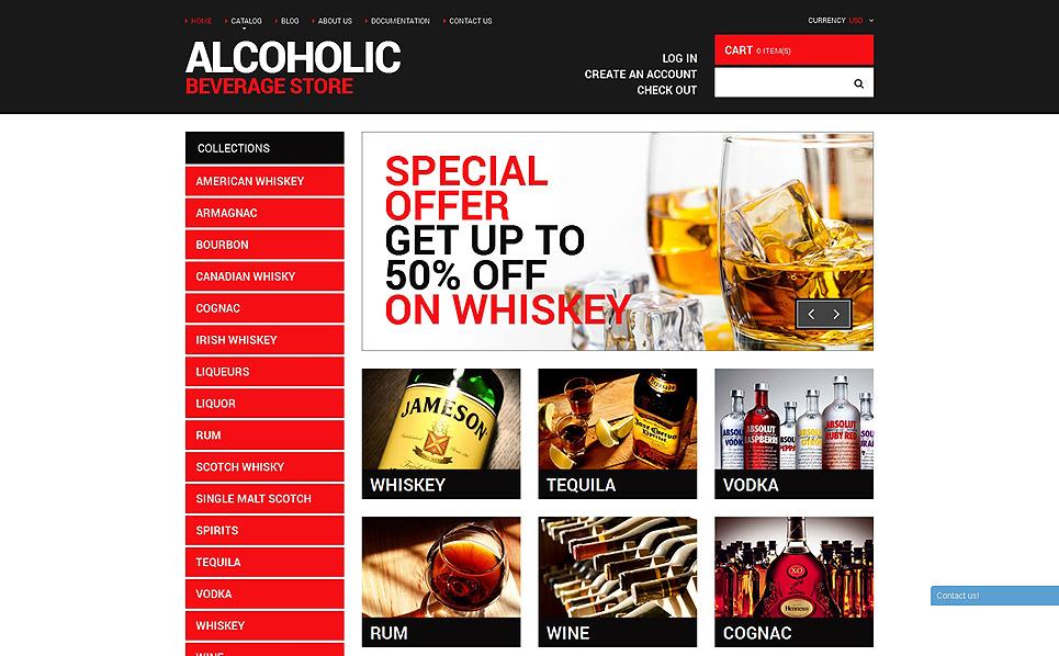 Reszponzív Ételek és italok  Shopify sablon New Screenshots BIG