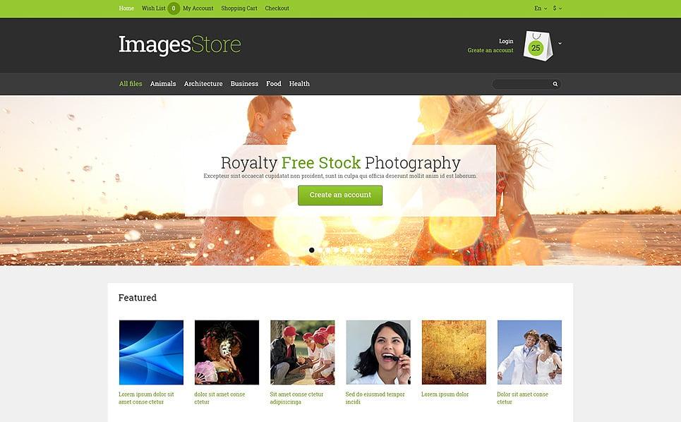 Responsive OpenCart Template over Stockfoto's New Screenshots BIG