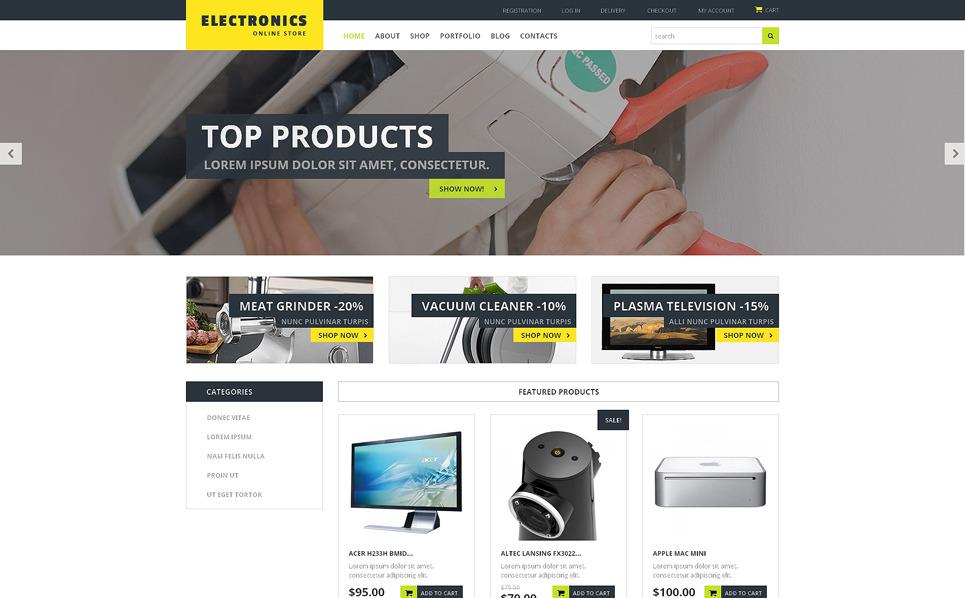 Responzivní WooCommerce motiv na téma Prodejna elektroniky New Screenshots BIG