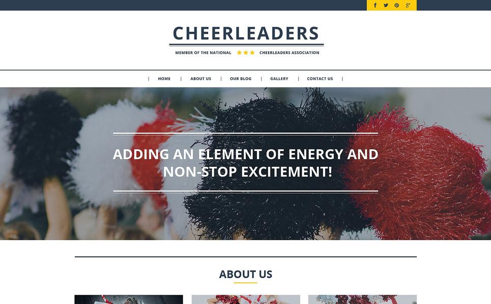 Responsive Website template over Cheerleading  New Screenshots BIG