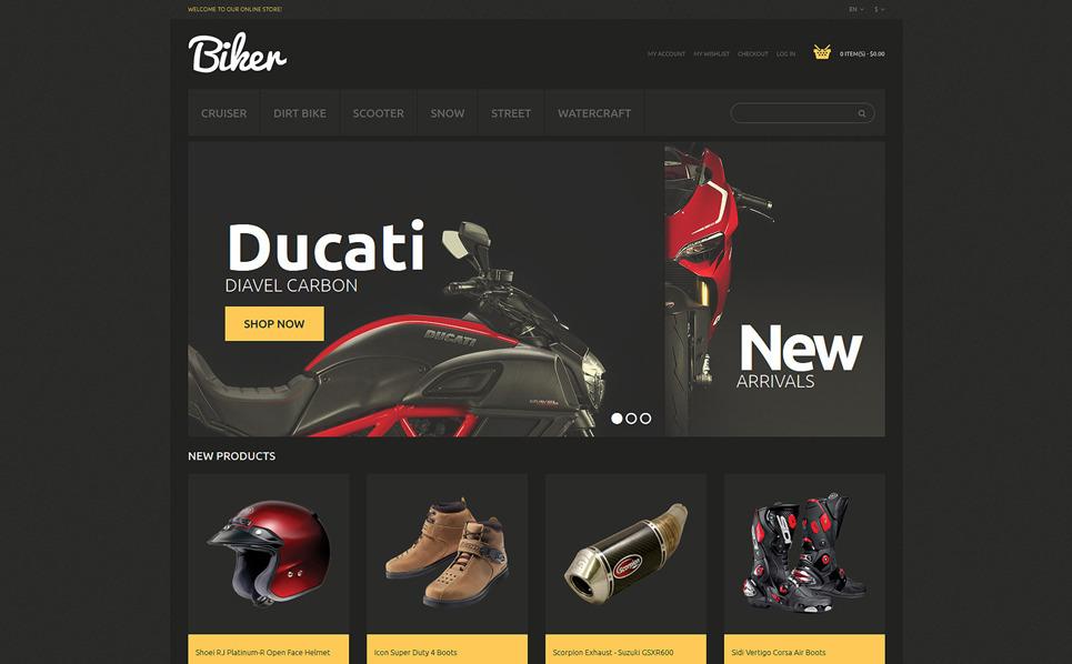 Reszponzív Kerékpárboltok Magento sablon New Screenshots BIG