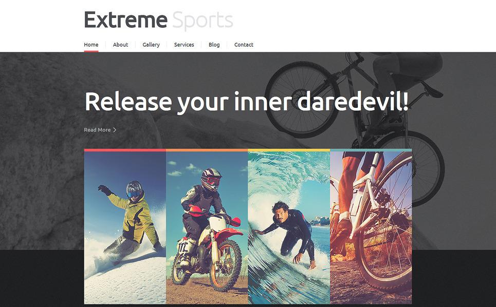 Responsive Joomla Template over Extreme Sporten  New Screenshots BIG