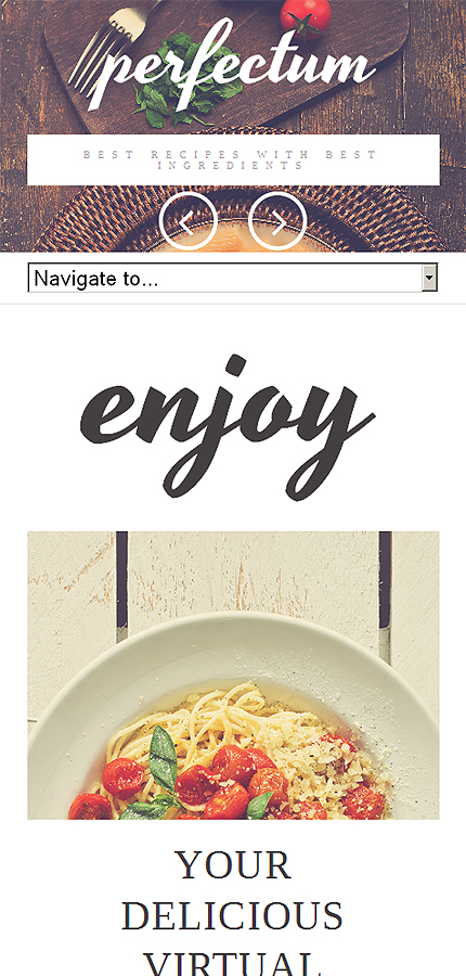 Template #51118 European Restaurant Responsive Template - Smartphone Layout 1