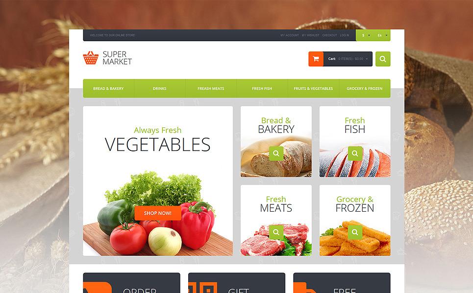 Reszponzív Élelmiszer üzletek Magento sablon New Screenshots BIG