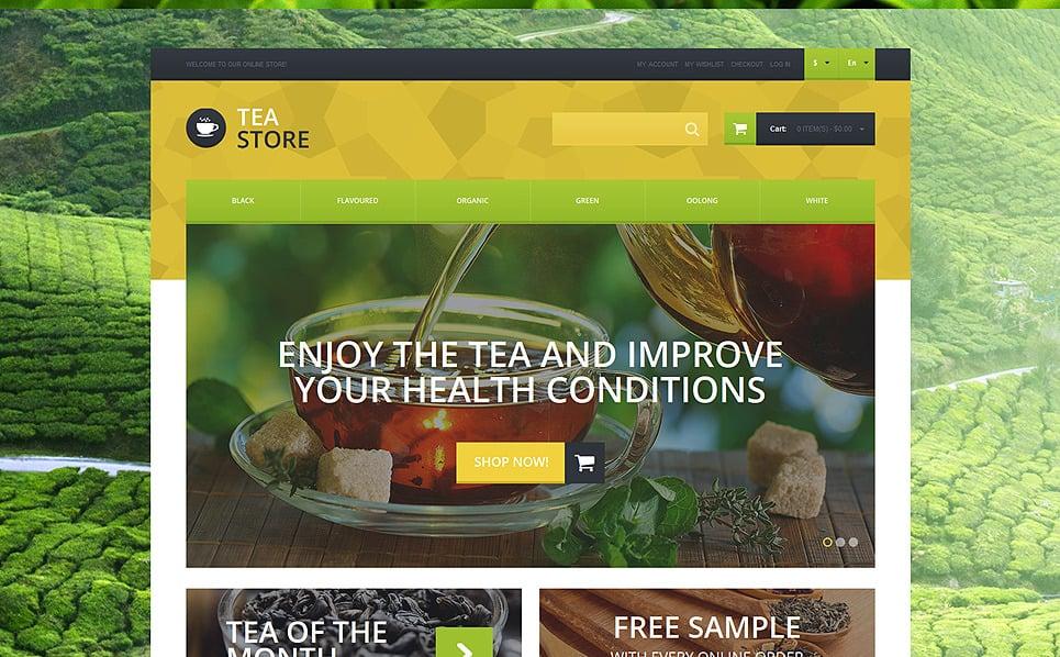 Responsywny szablon Magneto #51120 na temat: sklep z herbatą New Screenshots BIG