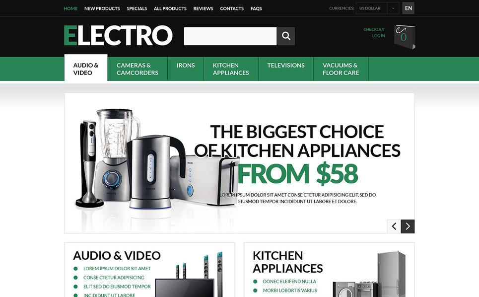 Elektronik Mağazası  Zencart Şablon New Screenshots BIG