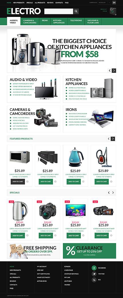 ZenCart Template 51122 Main Page Screenshot