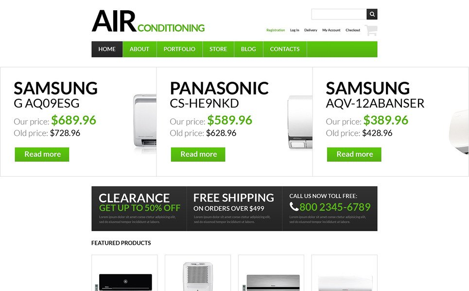 Responsive WooCommercie Thema over Airconditioning  New Screenshots BIG