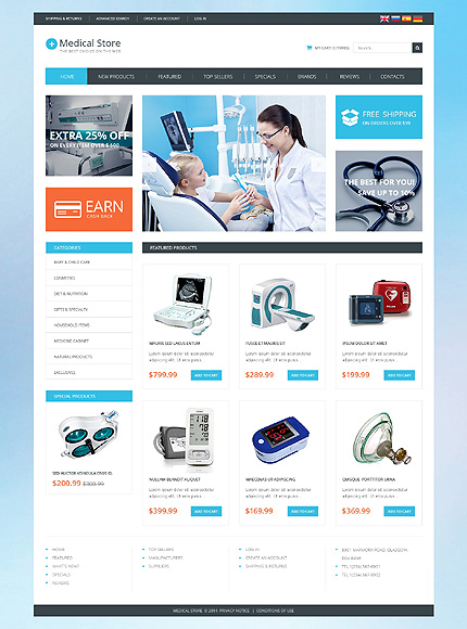 osCommerce Template 51133 Main Page Screenshot