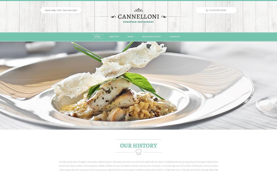 Reszponzív Európai éttermek Weboldal sablon New Screenshots BIG