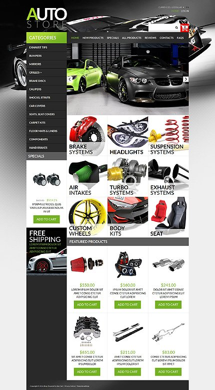 ZenCart Template 51142 Main Page Screenshot