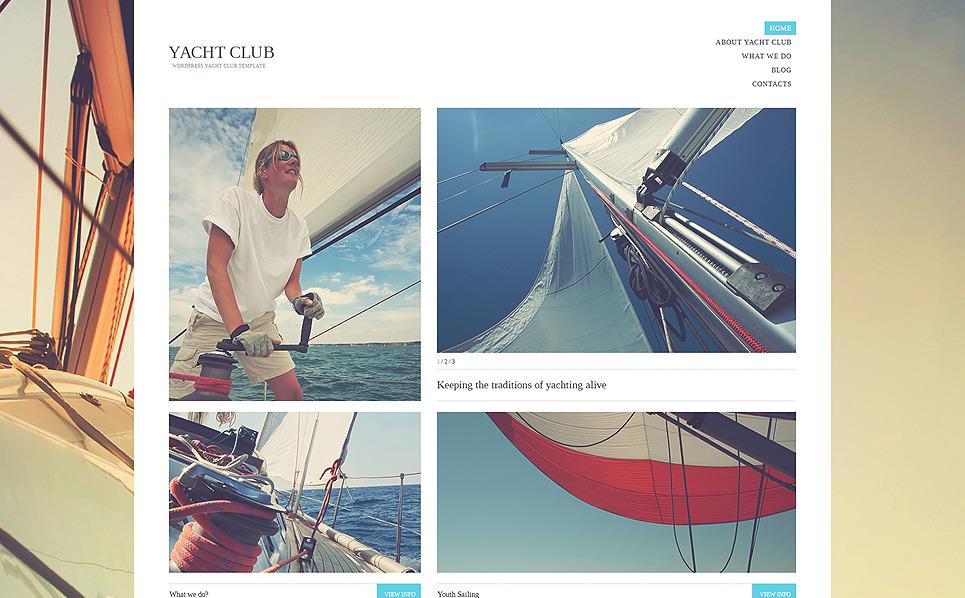 Адаптивний WordPress шаблон на тему яхтинг New Screenshots BIG