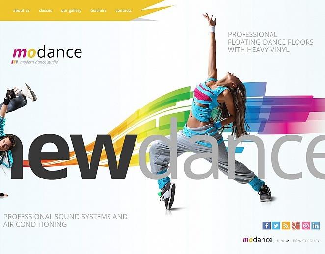 Premium Dance Studio Templates Moto Cms Html Şablon New Screenshots BIG