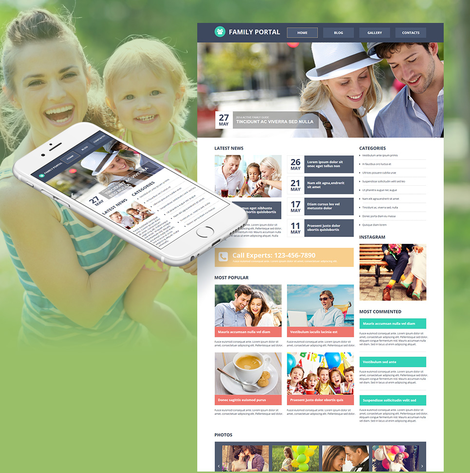 Family Portal Website Design - image