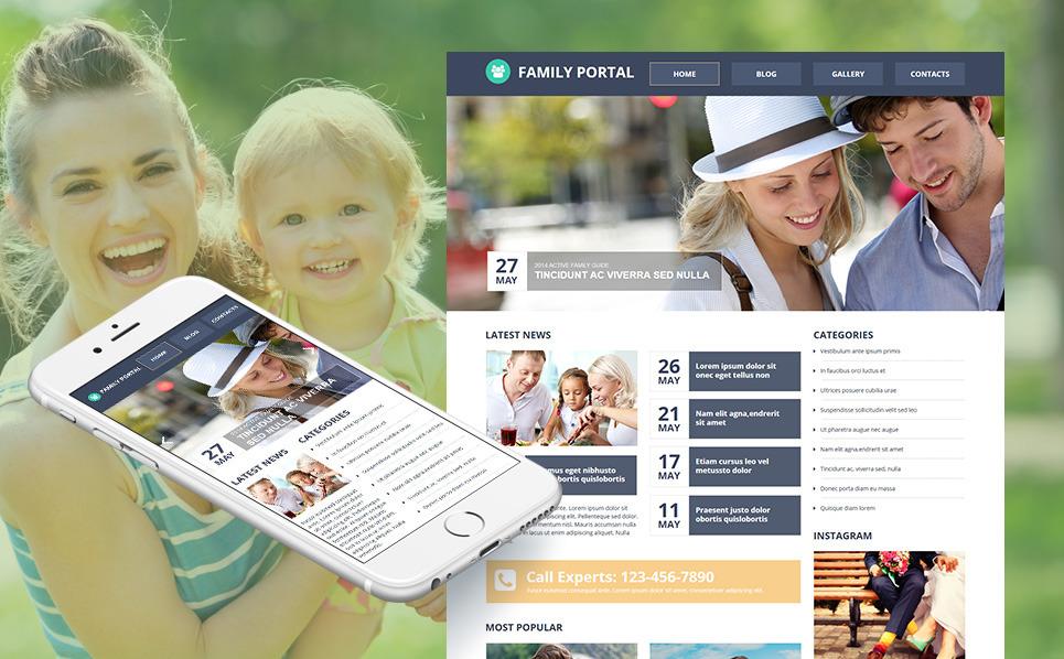 Luxusní Moto CMS HTML šablona na téma Rodinné centrum New Screenshots BIG