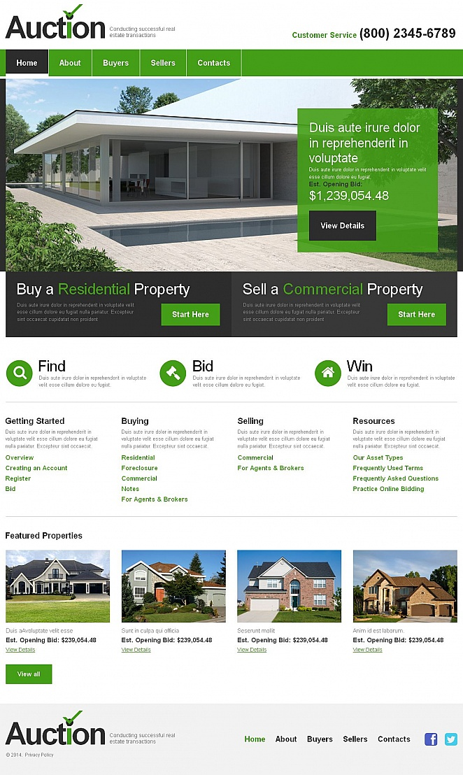 Real Estate Website Design with CMS - image
