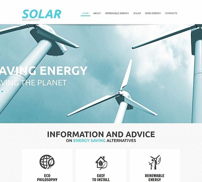 MotoCMS HTML шаблон на тему сонячна енергія New Screenshots BIG
