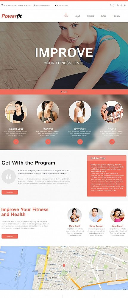 ADOBE Photoshop Template 51165 Home Page Screenshot