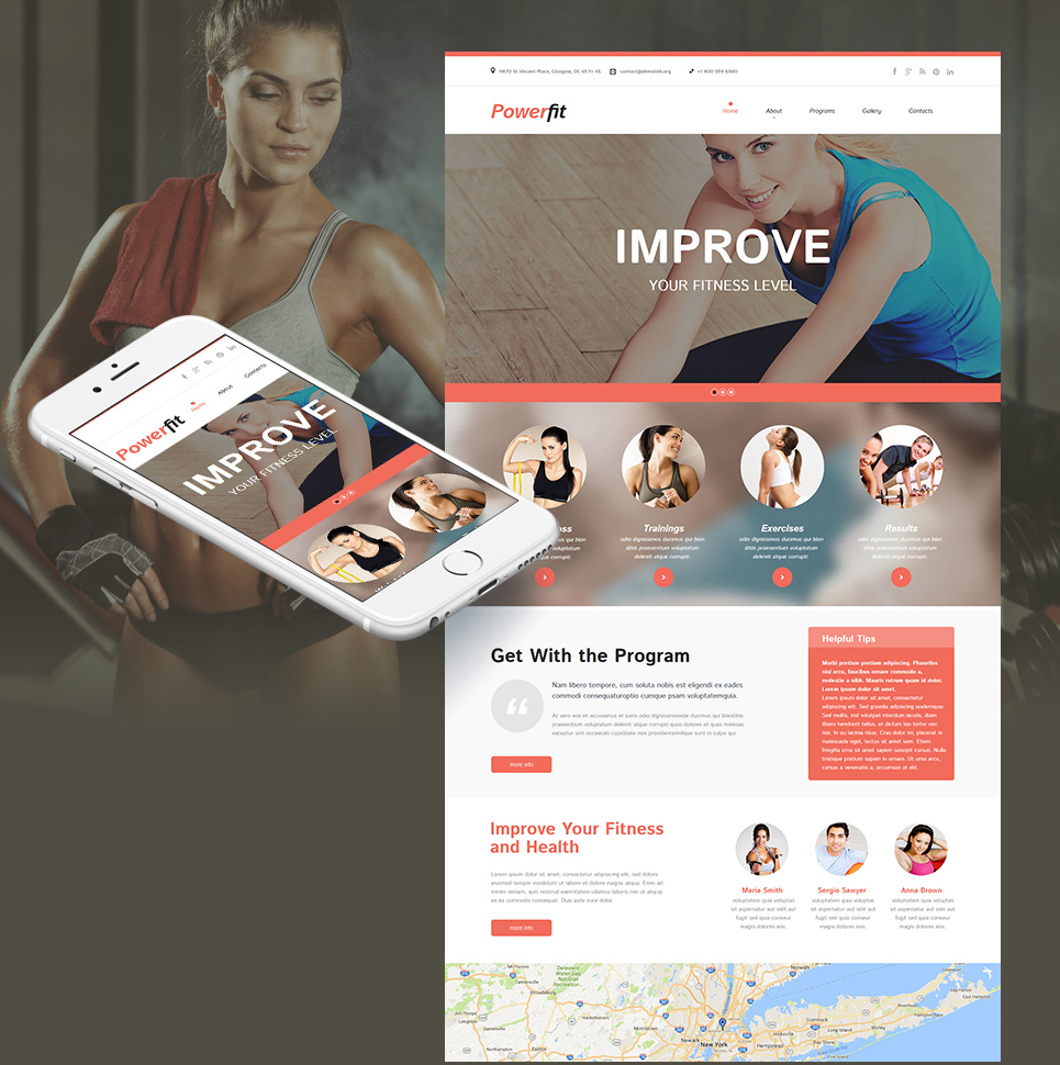 Health and Fitness Website Template - image