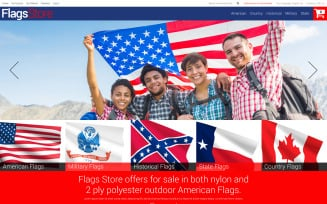Flags Shop Magento Theme