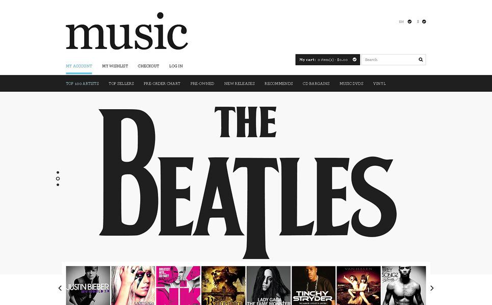 Szablon PSD #51173 na temat: sklep muzyczny New Screenshots BIG