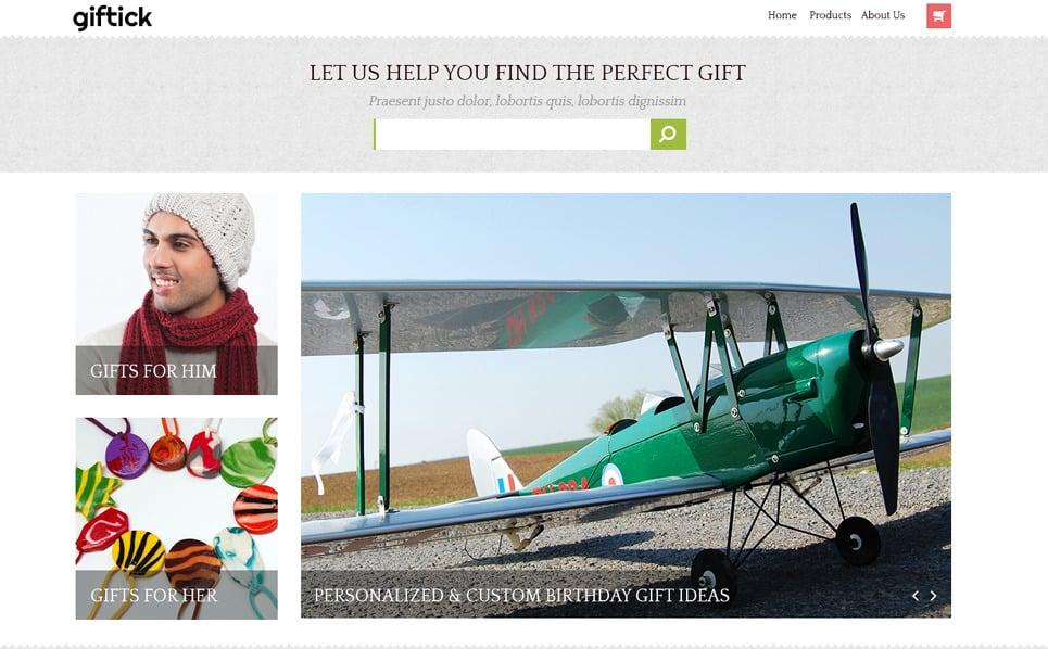 PSD Vorlage für Geschenkeshop  New Screenshots BIG