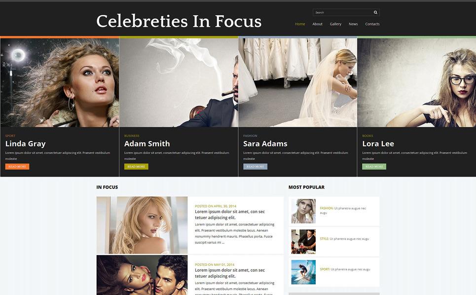 Modello Joomla Responsive #51185 per Un Sito di Celebrity Website New Screenshots BIG