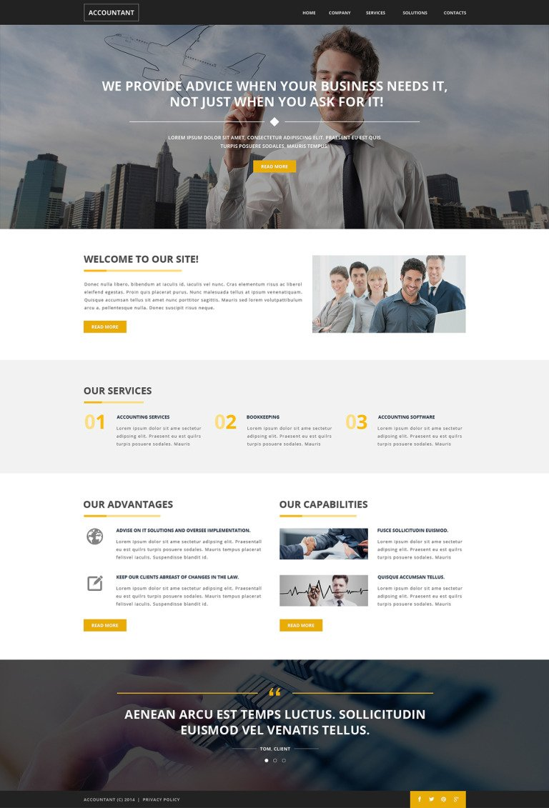 Accounting Website Responsive Website Template New Screenshots BIG