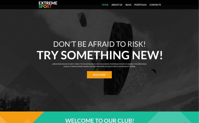 ExtremeSports- Active Sports WordPress Theme