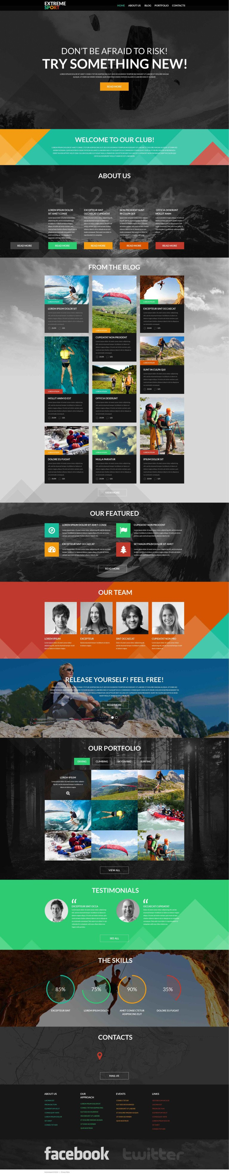 Active Sports WordPress Theme New Screenshots BIG