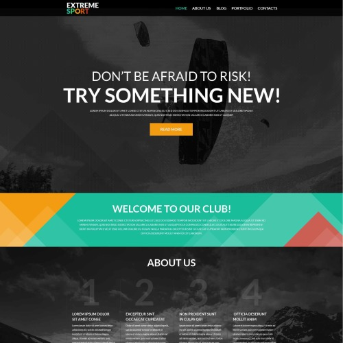 Extreme Sport - WordPress Template based on Bootstrap