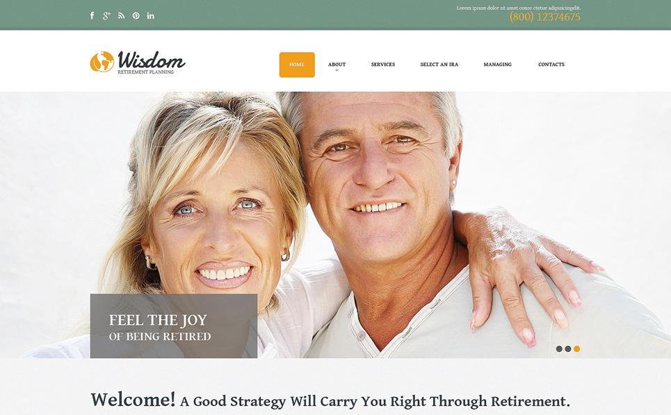Адаптивний Шаблон сайту на тему пенсійна програма New Screenshots BIG