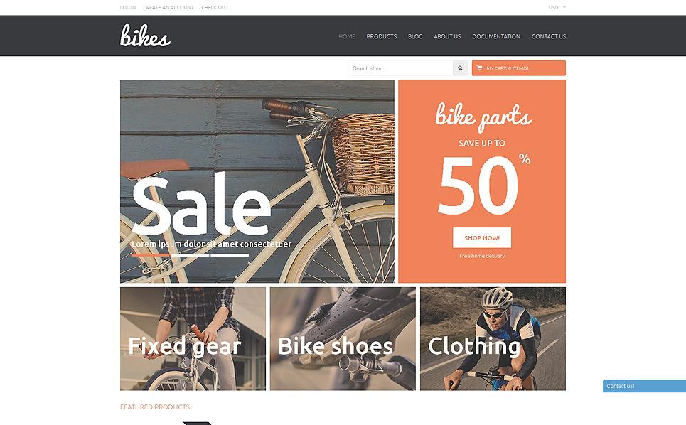 Адаптивный Shopify шаблон №51147 на тему велоспорт New Screenshots BIG