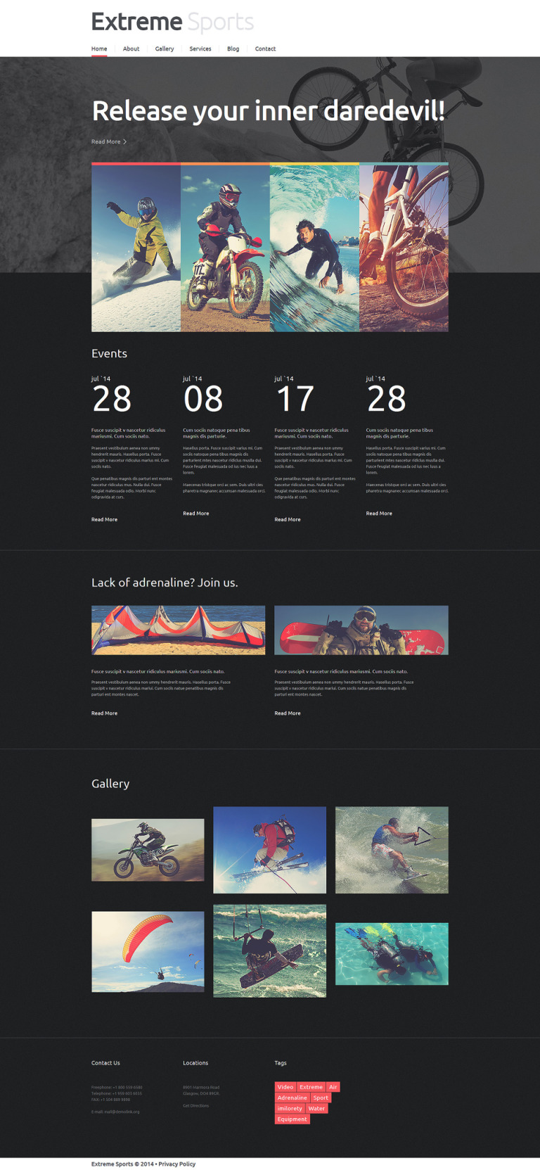 Adrenaline Rush Club Joomla Template New Screenshots BIG