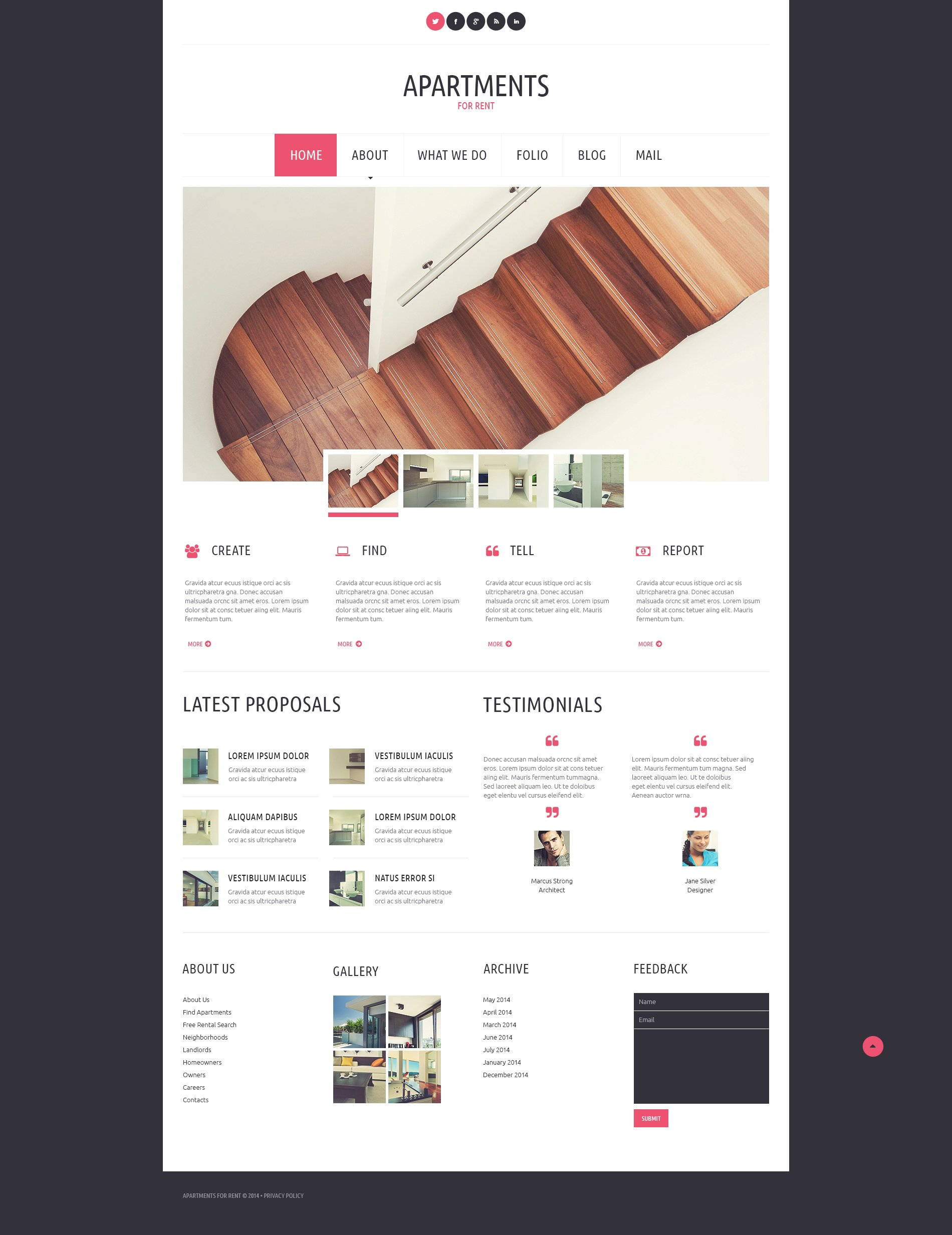 Apartments for Rent WordPress Theme - screenshot