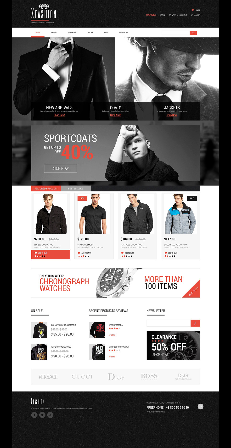 Apparel PSD Template New Screenshots BIG