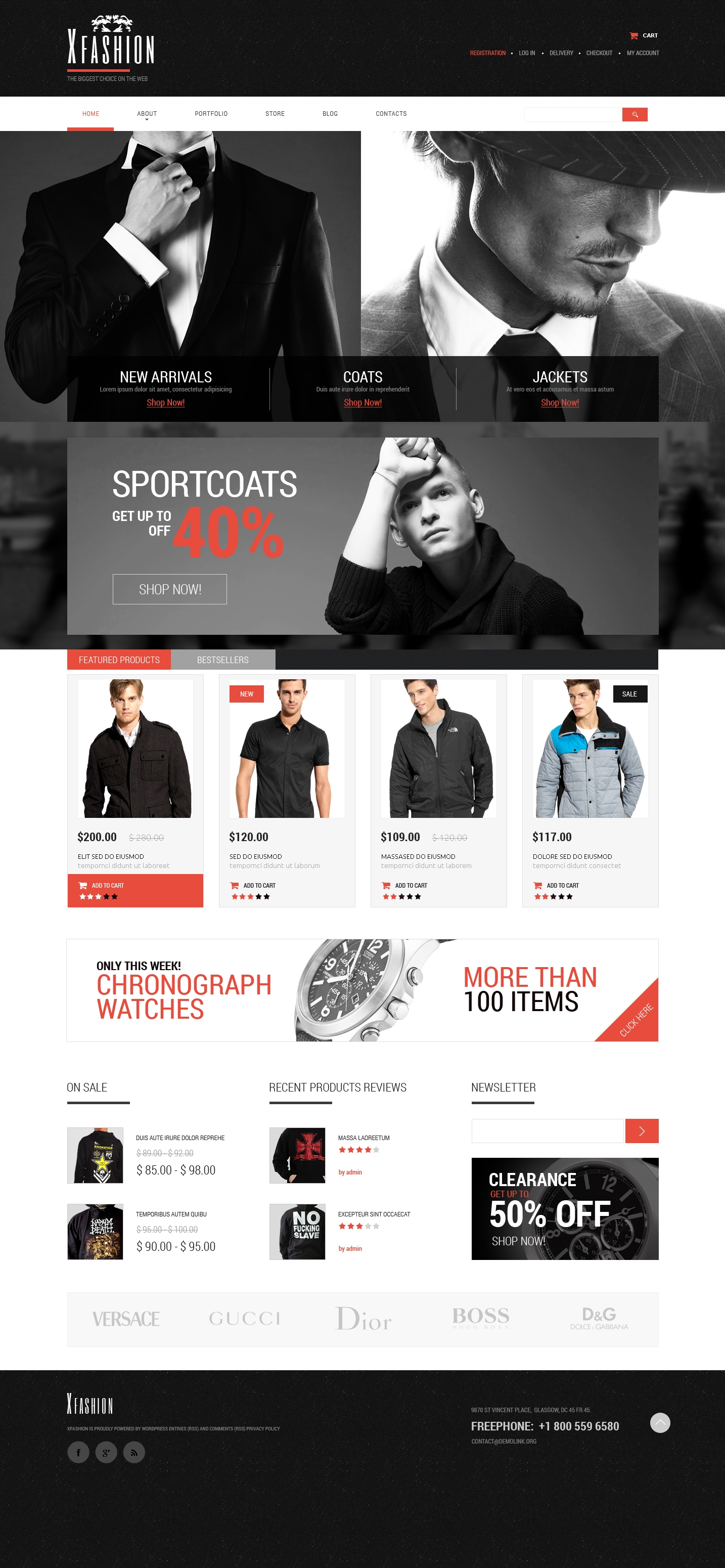 Apparel PSD Template - screenshot