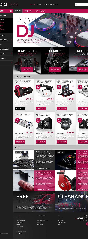 Audio Store PSD Template New Screenshots BIG