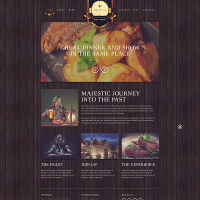 Vintage Website Templates | TemplateMonster