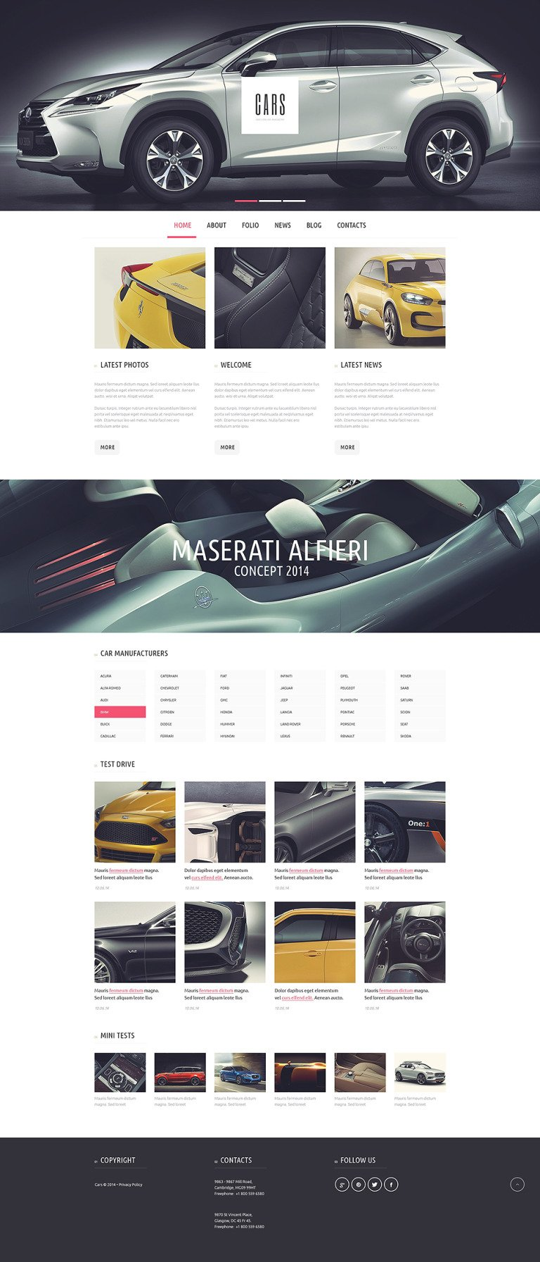 Car Passion WordPress Theme New Screenshots BIG