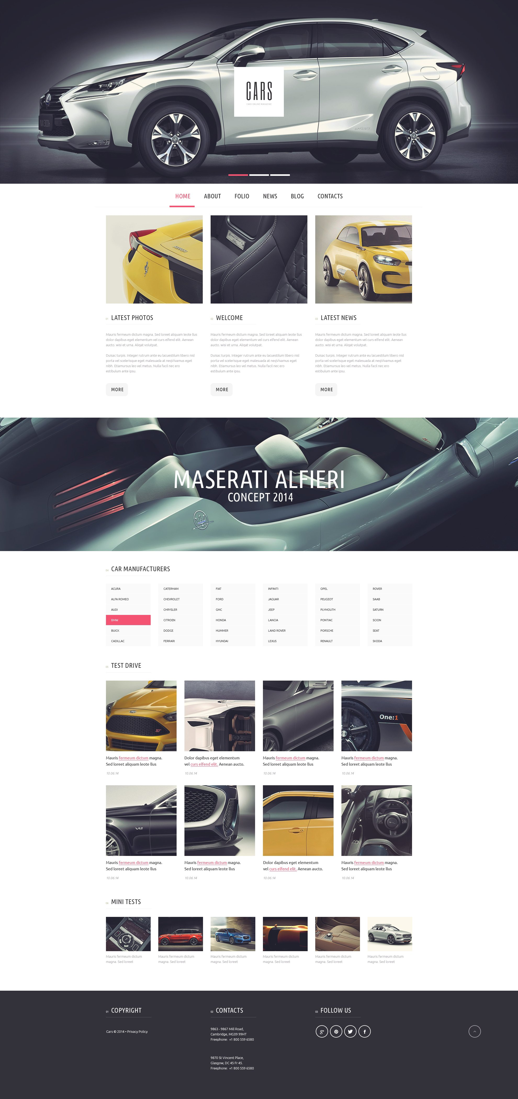 Car Passion WordPress Theme