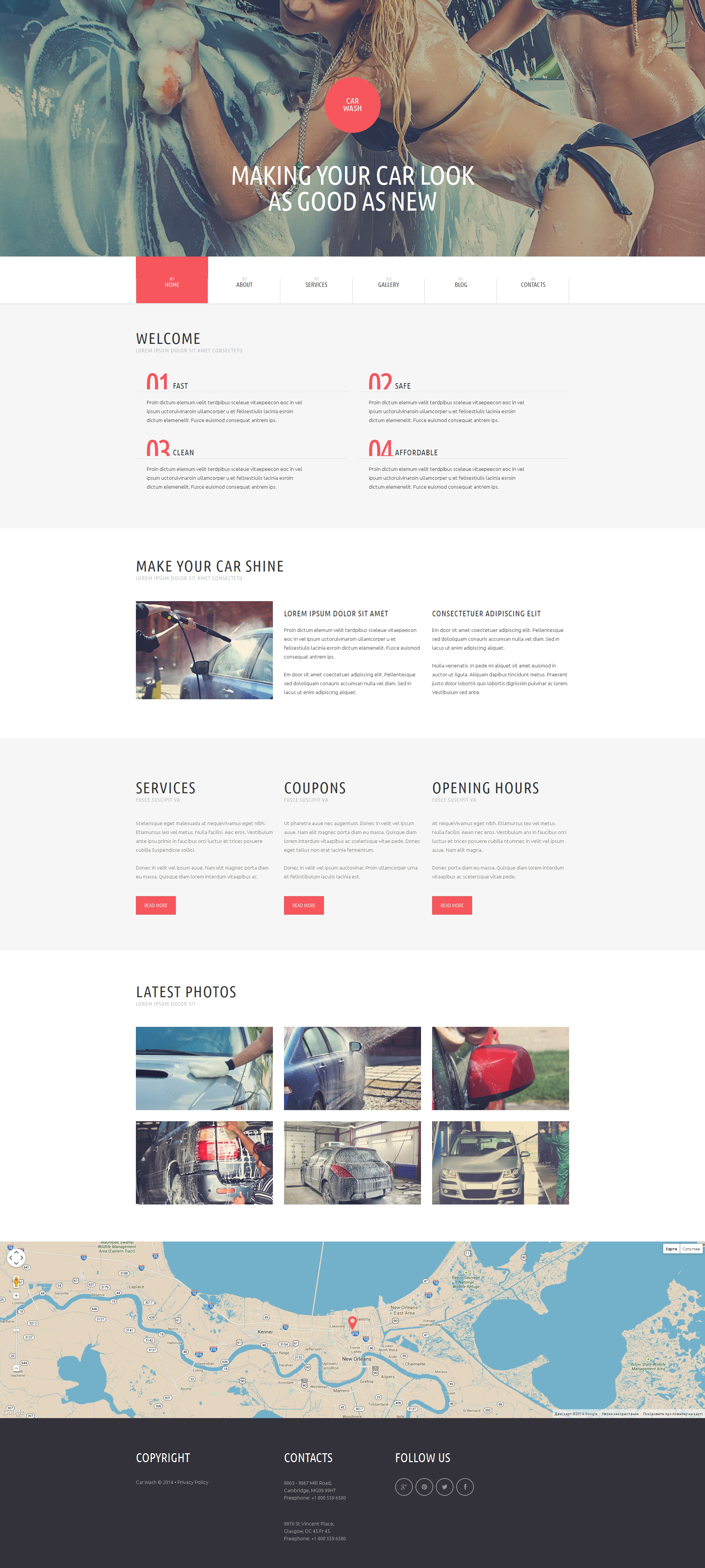 Car Wash WordPress Theme - screenshot
