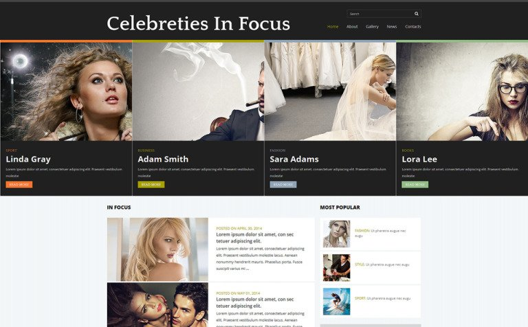 Celebrity Gossip Joomla Template