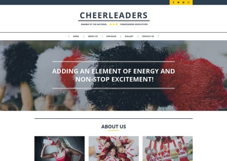 Cheerleading Responsive